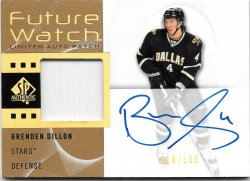 2012-13 Upper Deck SP Authentic Future Watch Limited Auto Patch Brenden Dillon