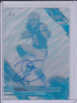 Devin Smith 2015 Topps High Tek Autographs Printing Proofs Cyan 1/1