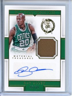 2015-16 Panini National Treasures Ray Allen Material Treasures Auto