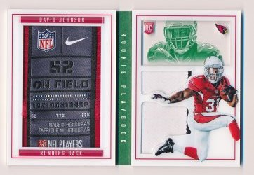 David Johnson 2015 Panini Playbook Jersey Green /5