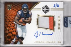 2018 Panini Honors Jordan Howard Recollection Collection 2016 Limited Rookie Patch Autographs