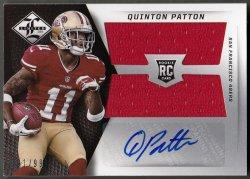 2013  Limited Rookie Jumbo Jerseys RC Logo Autographs Quinton Patton