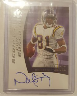 2005 Upper Deck Sp Authentic Nate Burleson