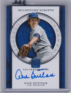 2016 Panini pantheon milestone  scripts don sutton
