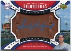 2007 Upper Deck Sweet Spot Sandy Koufax Legendary Autos Leather Blue