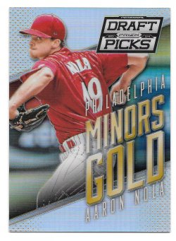 2014  Panini Prizm Perennial Draft Picks Minors Gold Prizm Aaron Nola