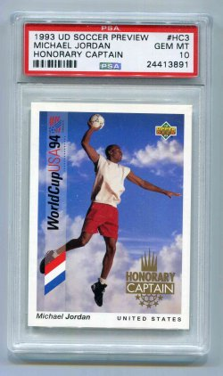 1993 Upper Deck Soccer Preview Michael Jordan - Honorary Captain