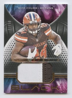 2019 Panini Black Futuristic Jerseys Copper #1 Nick Chubb/25