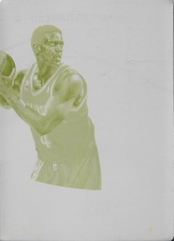 2017-18  Immaculate Collection Logoman Printing Plate Yellow Chris Webber #ed 1/1
