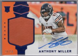 2018 Panini Plates and Patches Anthony Miller Rookie Patch Autographs Blue