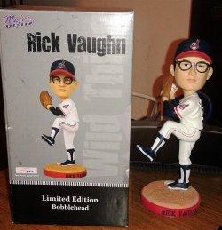 2009  Major League Bobblehead Charlie Sheen Rick Vaughn