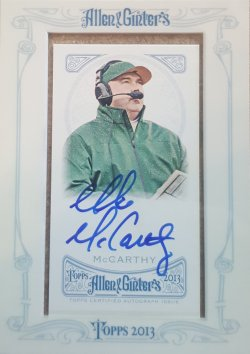 2013 Topps Allen & Ginter Mike McCarthy Auto