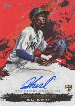 Jazz Chisholm 2021 Topps Inception RC Red Autograph 16 of 75