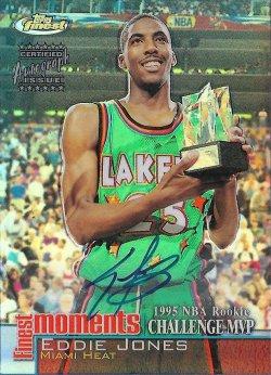 2000-01  Finest Moments Refractors Autographs Eddie Jones