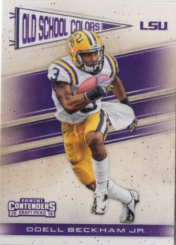 2018 Panini Contenders Draft Picks Old School Colors Odell Beckham Jr.