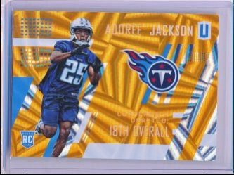 Adoree Jackson 2017 Panini Unparalleled Orange RC /99