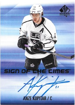 2015-16 Upper Deck SP Authentic Sign of the Times Anze Kopitar