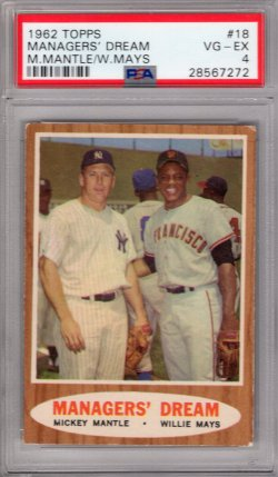 1962 Topps Topps Managers Dream Mantle / Mays