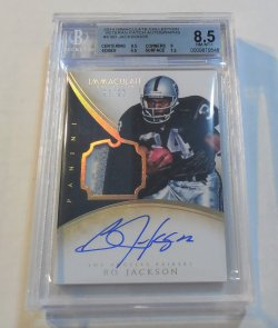2014 Panini Immaculate Collection Bo Jackson patch autograph