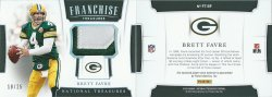 2018 Panini National Treasures Franchise Treasures Materials Prime #FT-BF Brett Favre