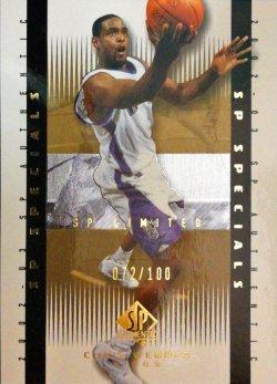 2002-03  SP Authentic Limited Chris Webber SPEC #ed 72/100