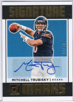 2018 Donruss Donruss Mitchell Trubisky Signature Marks Auto Blue