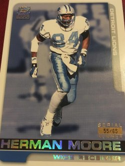 2000  PACIFIC RAINBOW Paramount  HERMAN MOORE #83 55/85 Detroit Lion AllPro WR
