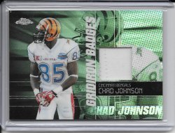 2004 Topps Chrome Gridiron Badges Jersey - Chad Johnson