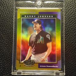 2001 Leaf Certified Mirror Gold Randy Johnson