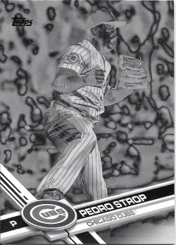 2017 Topps Black and White Negative Strop