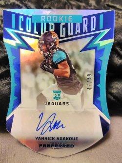 2016 Panini Preferred  Yannick Ngakoue Rookie Color Guard Autograph Blue Parallel