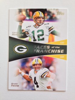2011 Topps Faces of the Franchise Brett Favre/Aaron Rodgers