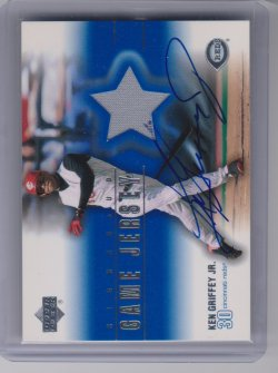 2001 Upper Deck signed game jersey griffey
