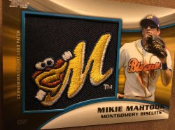 2014 Topps Pro Debut RC Relic MIKIE MAHTOOK #MH-MMI 99/99 Montgomery Biscuit OF Detroit Tiger