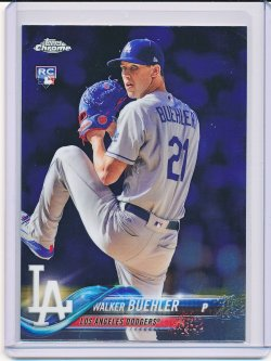 Walker Buehler 2018 Topps Chrome Update RC