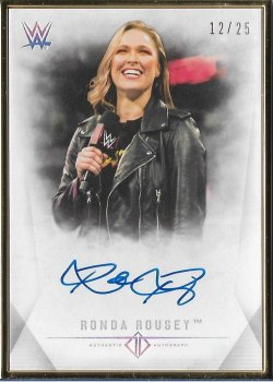 2019 Topps WWE Transcendent Collection Ronda Rousey #ed 12/125