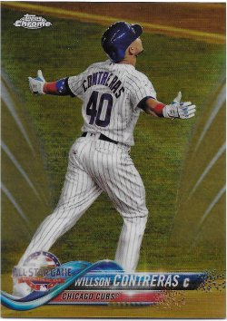2018 Topps Chrome Update Gold Refractors Contreras