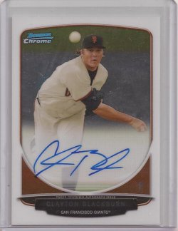 2013 Bowman Chrome Clayton Blackburn