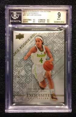 2012-13 Exquisite Collection 2013-14 Rookies #R1 Skylar Diggins/99 BGS 9