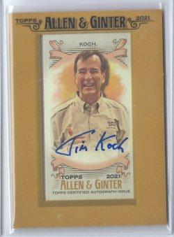 2021 Topps Allen & Ginter Jim Koch (Samuel Adams Brewing) Autograph