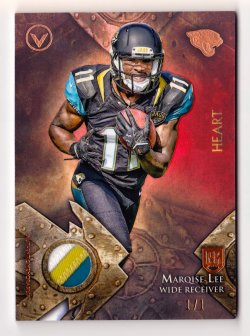 2014 Topps Valor Rookie Relics Heart #VRRML Marquise Lee/1 of 1