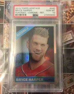 2015 Topps Heritage Chrome Refractor Bryce Harper