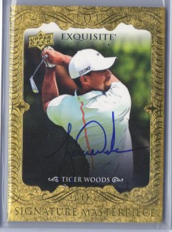 2014 Upper Deck Exquisite Tiger Woods Signature Masterpieces Autograph