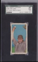1909  T206 Sweet Caporal Joe Lake Ball in Hand