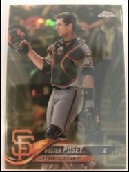 2018 Topps Chrome Gold Refractor Buster Posey