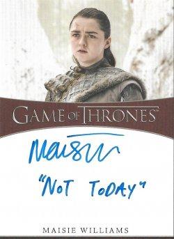 2020  Rittenhouse Game of Thrones Season 8 Inscription Autographs Maisie Williams as Arya -