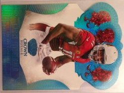 2013 Panini Crown Royale Larry Fitzgerald Platinum Blue Holofoil