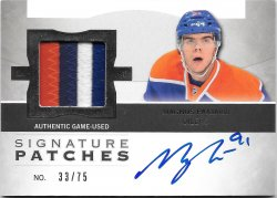 2012-13 Upper Deck The Cup Signature Patches Magnus Paajarvi