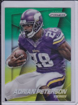 Adrian Peterson 2014 Panini Prizm Neon Green Yellow Prizm
