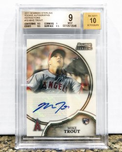 2011 Bowman Sterling Mike Trout Auto BGS 9 /109
